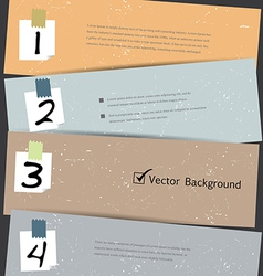 Paper number step banner vector