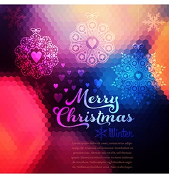 Christmas background christmas ball retro backdrop vector