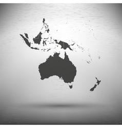 Australia map with the shadow on gray background vector