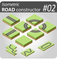 Isometric road constructor - 02 vector image
