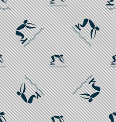Summer sports diving icon sign seamless pattern vector