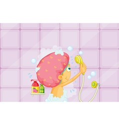 Girl showering vector