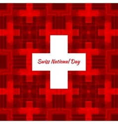 Swiss international day background vector