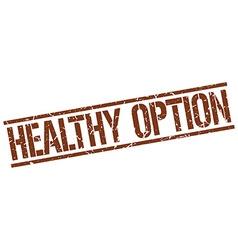 Healthy option stamp vector