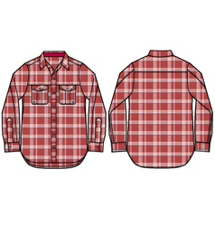 Check pattern shirt design vector