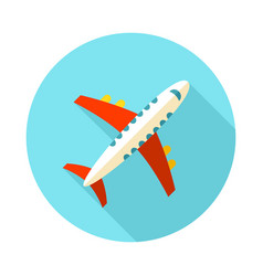 Aircraft icon travel summer vacation vector