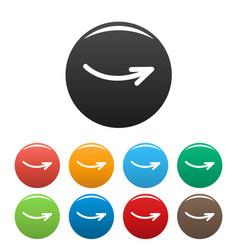 arrow icons set simple vector image vector image