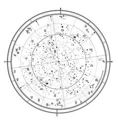Astrological horoscope on january 1 2018 vector