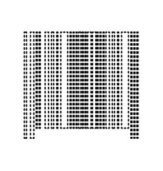 Bar code sign black dashed icon on white vector
