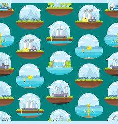 cartoon energy generation seamless pattern vector image vector image