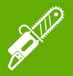 Chainsaw icon green vector