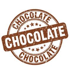 Chocolate brown grunge round vintage rubber stamp vector