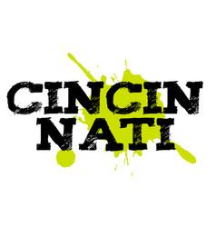 Cincinnati sticker stamp vector