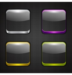 Colored app buttons set vector image vector image