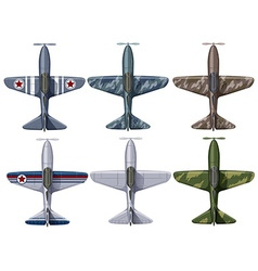 Different design of fighting planes vector