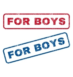 For boys rubber stamps vector