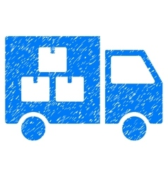 Goods transportation car grainy texture icon vector