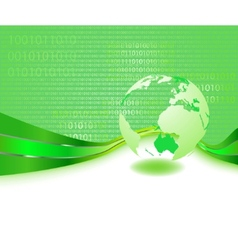 Green informational planet - business concept vector