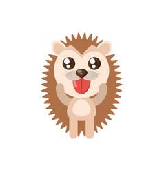 Kawaii porcupine animal toy vector