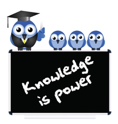 Knowledge message vector image