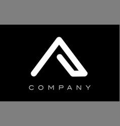 Letter a alphabet logo icon template design vector