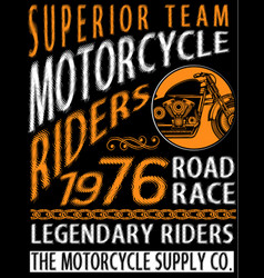 Motorcycle t shirt graphic design vector