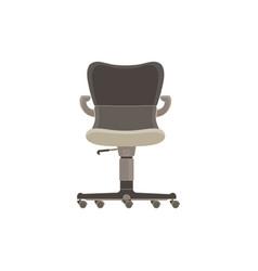 office chair flat icon isolated furniture side vector image vector image