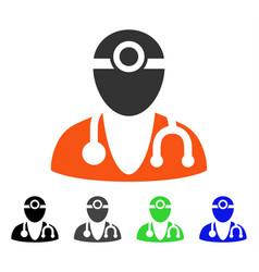 Optometrist doctor flat icon vector