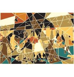 Parklife mosaic vector image