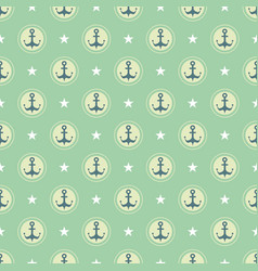 pastel nautical pattern vector image vector image