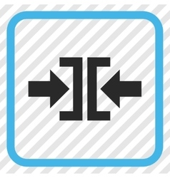 Press horizontal direction icon in a frame vector