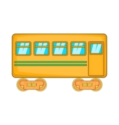 Rail car icon cartoon style vector