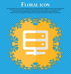 Server Floral flat design on a blue abstract vector image