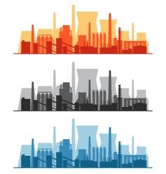 Set of industrial banners vector