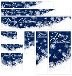 Snowflakes Christmas Web Banners vector image vector image