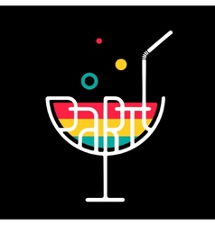 Symbol Cocktail Party vector image