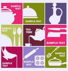symbols cooking food restaurant vector image