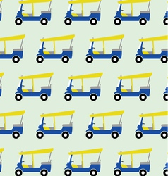 taxi tuktuk pattern vector image vector image