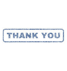 Thank you textile stamp vector