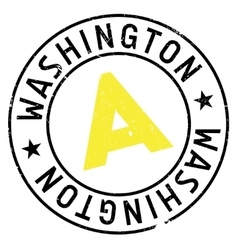 Washington stamp rubber grunge vector