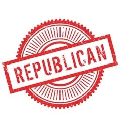 Republican stamp rubber grunge vector