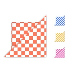 Checkered napkin vector