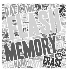 Compact flash memory and data recovery text vector