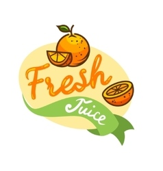 Fresh juice emblem 3 vector
