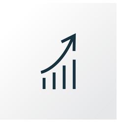 Increasing outline symbol premium quality vector