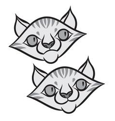 Cartoon smiling tabby cat vector