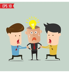 Cartoon business man snatching idea - - eps1 vector