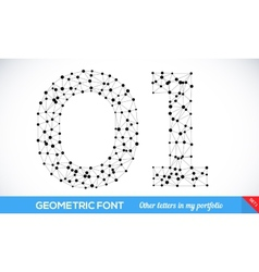 Geometric type font vector image