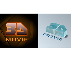 3d movie vector image vector image