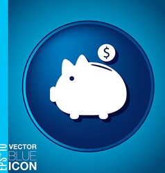 Piggy bank symbol of money vector